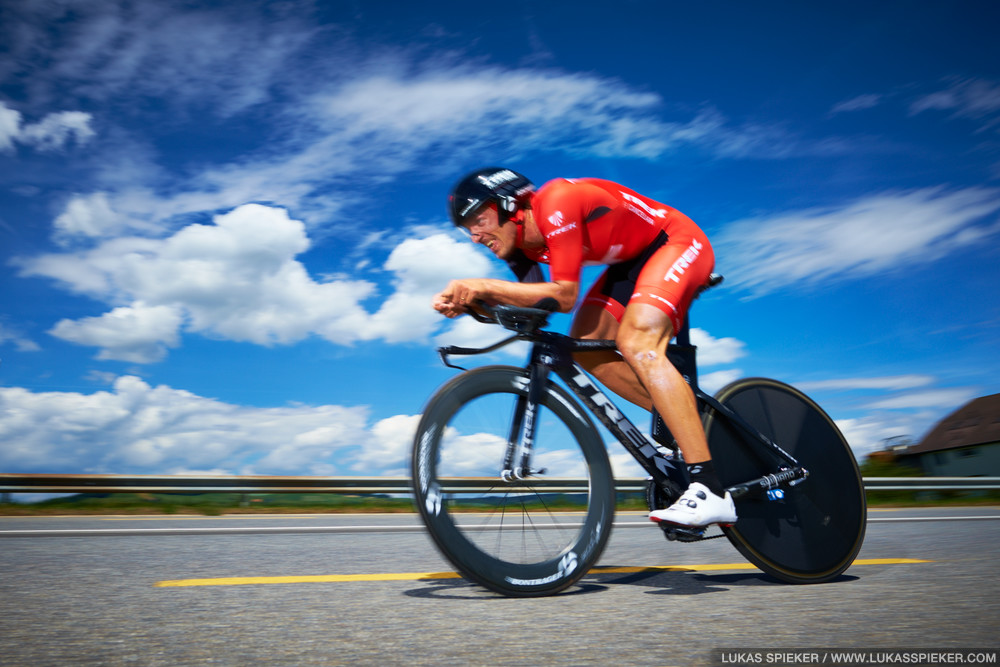 Fabian Cancellara competes in the individual time trial starting and ending in Worb, Switzerland June 20, 2014.